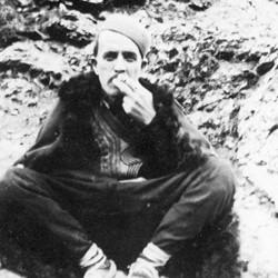 Doda NB9020 61 B  Macedonia. Man smoking, in the upper Reka valley near Dibra.
