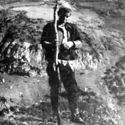 Doda NB9020 74 B Macedonia. Young Albanian in the upper Reka valley near Dibra.