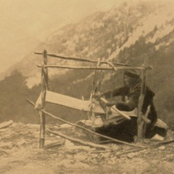 FMG007: A Shkreli woman at her loom in the mountains of northern Albania (photo: Friedrich Markgraf, 1924-1928).