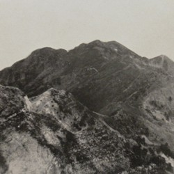 FMG014: The three main peaks of Mount Tomorr near Berat, Albania, as seen from the south (photo: Friedrich Markgraf, 1924-1928).