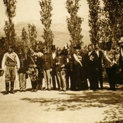 004 Montenegro. Montenegrin officials and foreign dignitaries posing in Bar (Antivari), ca. 1905
