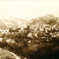 006 Montenegro. The ruins of the old town of Bar (Stari Bar) after the earthquake