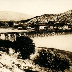 040 Albania. Bridge across the Buna in Shkodra