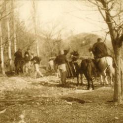 242 Albania. The priest of Mirdita travelling towards Kallmet