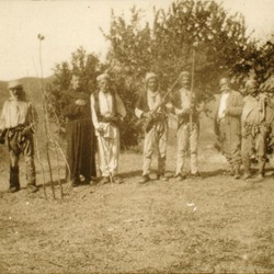 246 Albania. Men of the Kir tribe, to the north of the Drin, in the Malësia e Vogël