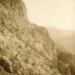 252 Albania. The Cliff of Raja in the Drin valley of the District of Tropoja