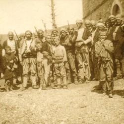 257 Albania. The tribemen of Iballja posing for the camera, 1905