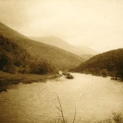258 Albania. The Drin valley at the Vizier's Bridge (Ura e Vezirit) near Kukës, 1905