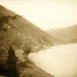 259 Albania. The Drin river near the Vizier's Bridge (Ura e Vezirit), 1905