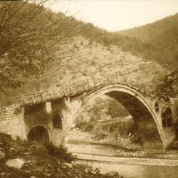 260 Albania. The Luma Bridge (Ura e Lumës) in the Drin valley, 1905