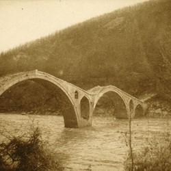 261 Albania. The Vizier's Bridge (Ura e Vezirit) on the Drin near Kukës, part of the old traderoute between Shkodra and Prizren, 1905