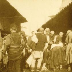 264 Kosova. The market in Prizren, 1905