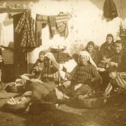 265 Albania. Refugees fleeing from the Serbs. Muslim Albanian women from the vicinity of Gjakova (Krasniqi tribe). Shkodra 1913