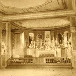 273 Albania. Interior of the Church of Saint Alexander of Orosh, in Mirdita, 1905