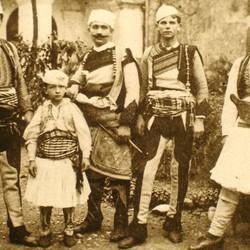 275 Albania. Group of men