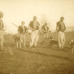 279 Albania. Hunters in the vicinity of Kthella in the District of Mirdita