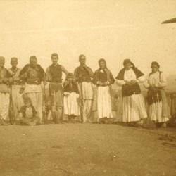 280 Albania. The family of the Bajraktar of Kthella in Mirdita