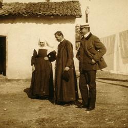 305 Macedonia. A monastery in Skopje. The Austro-Hungarian consul Bohumil Para. 1903