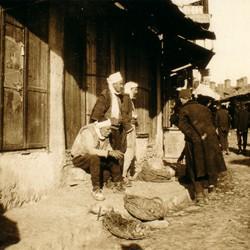 309 Macedonia. Scene in the bazaar of Skopje, 1903
